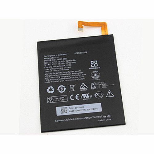 16.3WH/4290MAH Lenovo Ideapad A8-50 A5500 Replacement Battery L13D1P32 3.8V
