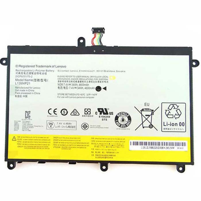 4600MAH Lenovo Yoga 2 11  Replacement Battery L13M4P21 L13L4P21 7.4V