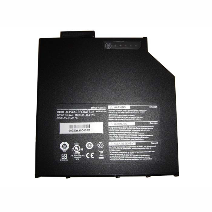 41.04WH/3800mah CD-ROM drive Battery for Dell Alienware M15X  Replacement Battery MOBL-M15X6CSECBATBLK SQU-723O 10.8V