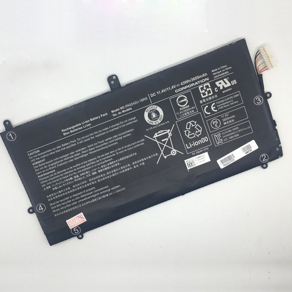 43Wh/3655mAh 11.4V PA5242U-1BRS Replacement Battery for Toshiba Satellite Radius 12 P20W P25W-C Series
