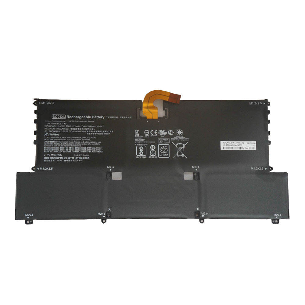 38Wh / 4950mAh 7.7V SO04XL Replacement Battery for HP Spectre Pro 13 G1
