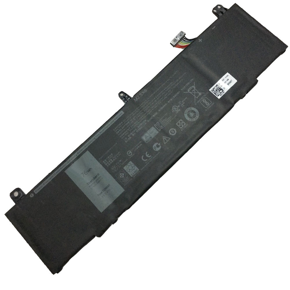 76wh Dell Alienware TDW5P Series ALW13CR ALW13C Replacement Battery TDW5P 15.2V