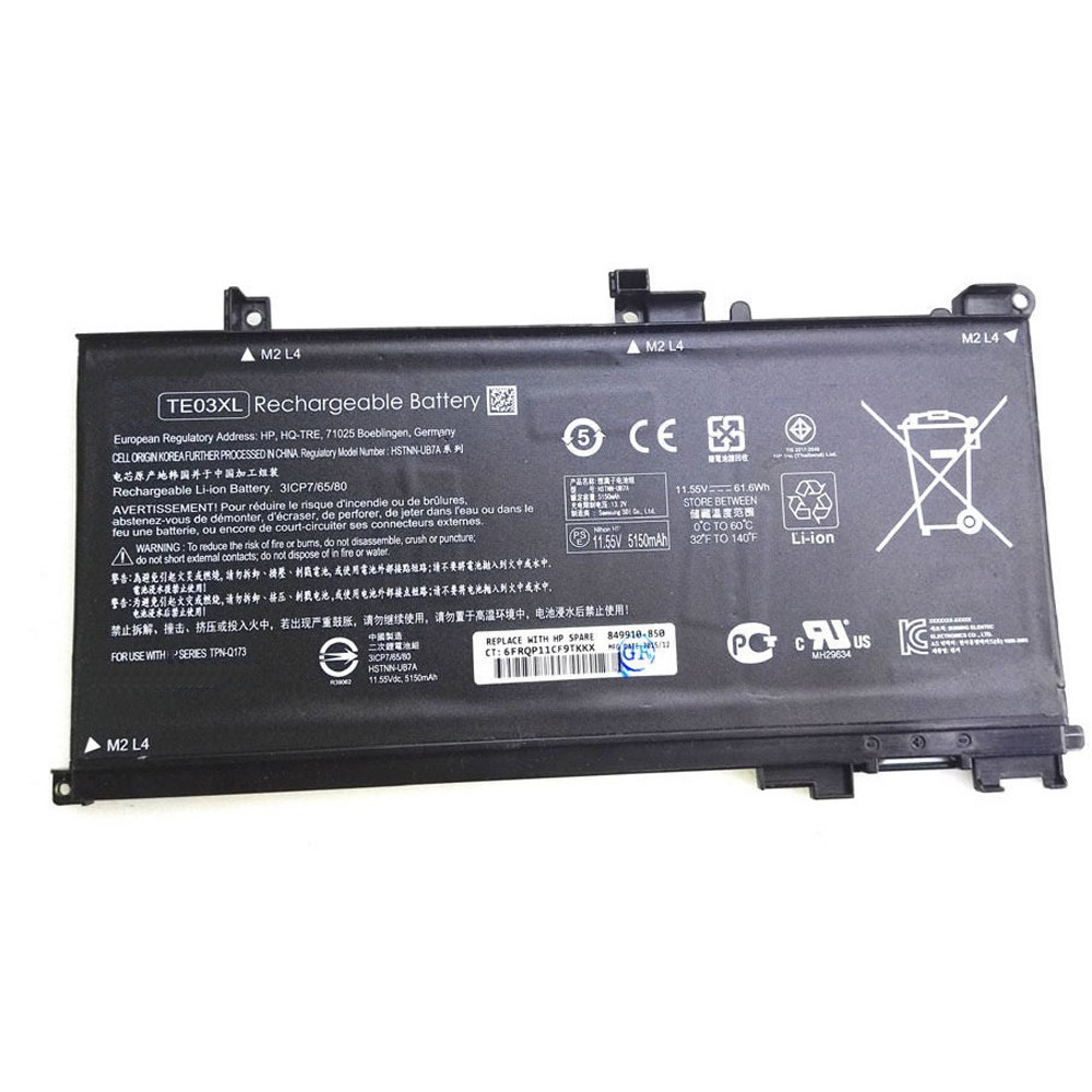 61.6Wh Hp Pavilion 15 UHD Replacement Battery TE03XL 11.55 V