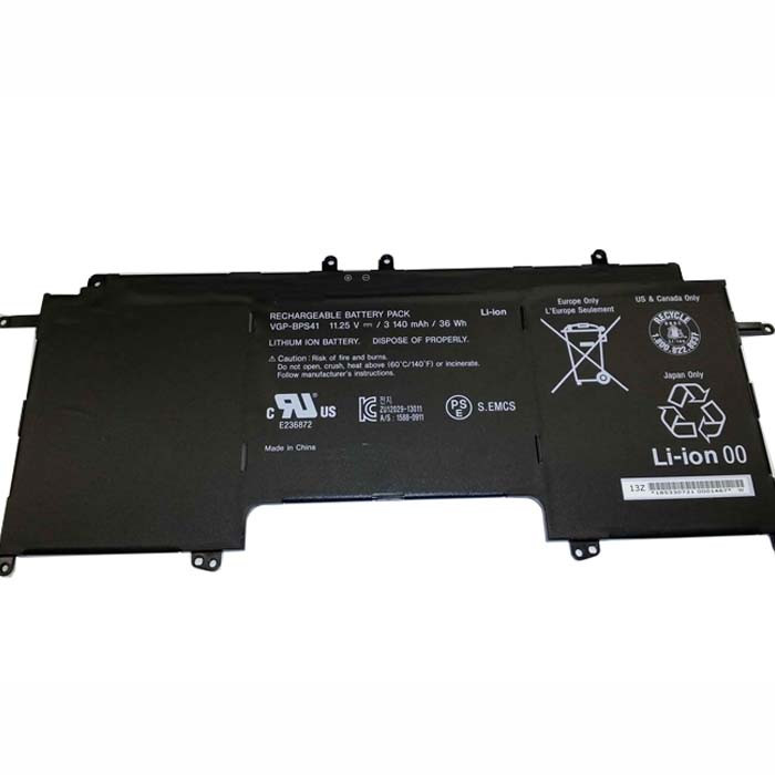 3140mAh/36Wh Sony Vaio Flip 13 SVF13N SVF13N13CXB Replacement Battery VGP-BPS41 11.25V