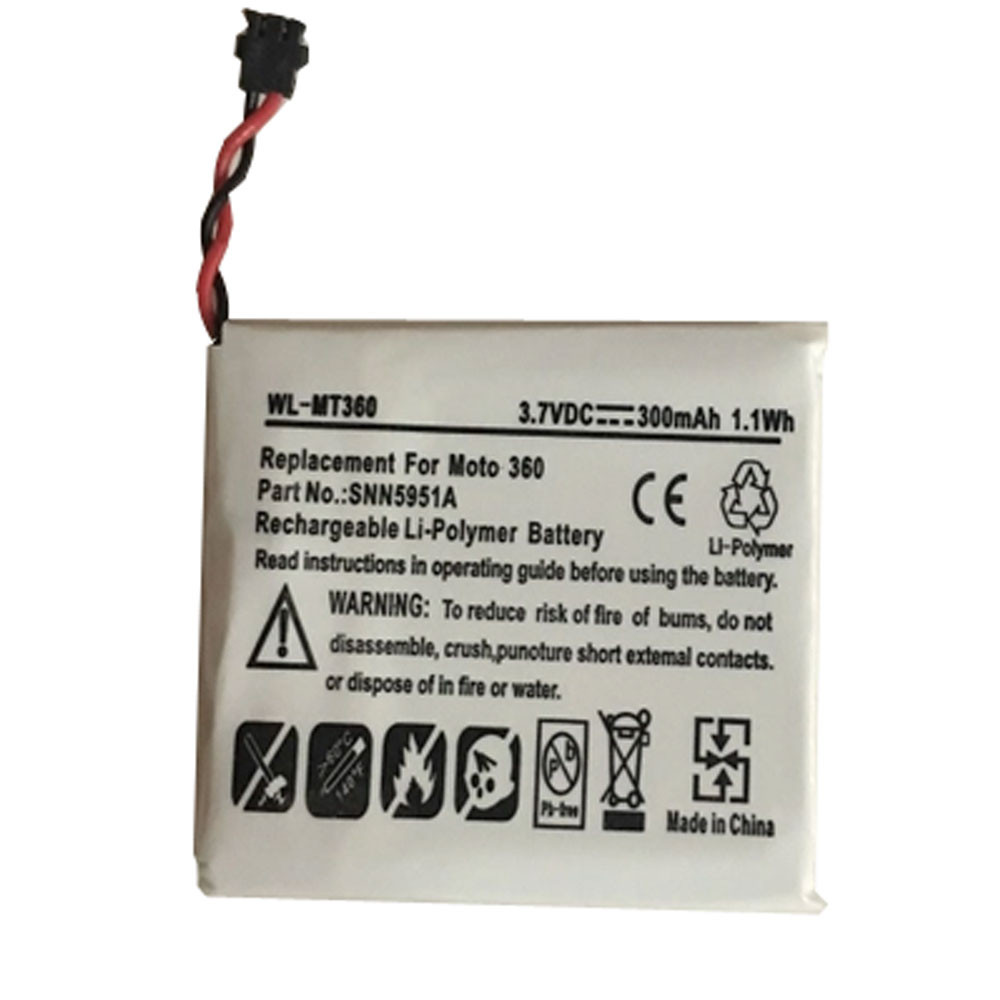 300mAh 3.8V WX30 Replacement Battery for Motorola Moto 360 1st Gen 2014 SNN5951A